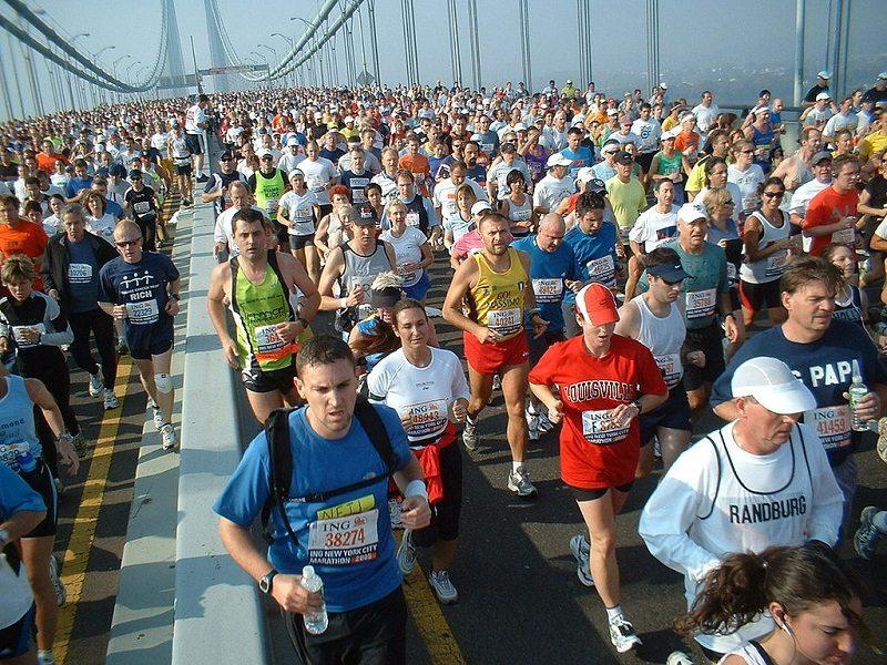 Le marathon de New York sur le pont de Verrazano