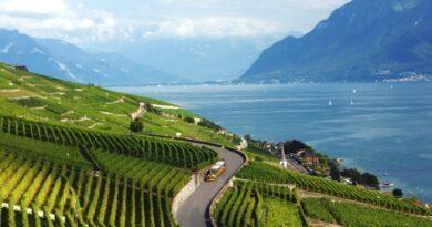 Lavaux, dans la région de Montreux Riviera, c'est le royaume des vignobles en terrasse.