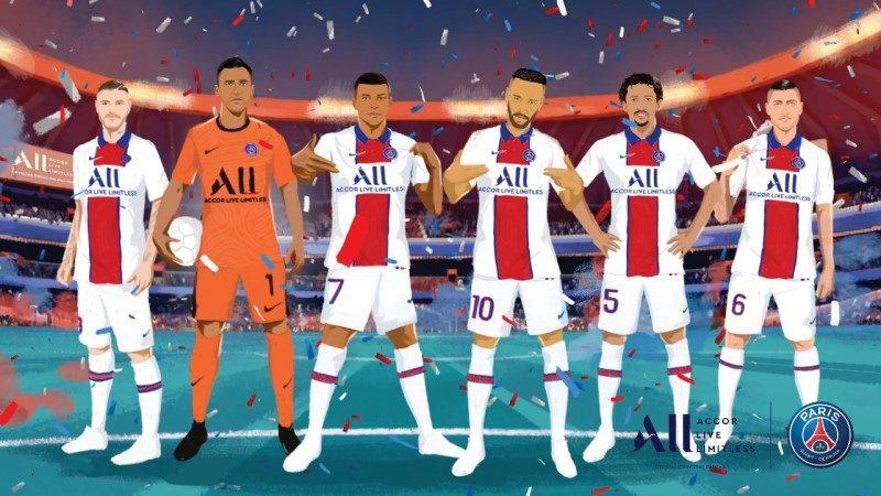 Le PSG et Accor présentent un nouveau maillot pour la prochaine saison 1