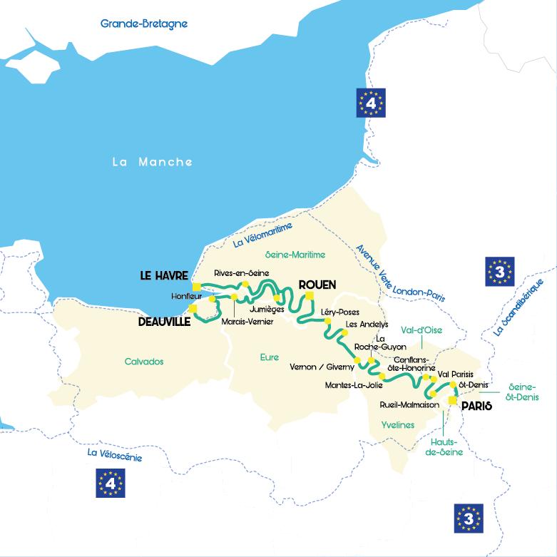 Avec l'itinéraire cyclable La Seine à Vélo, Paris est reliée à la mer 2
