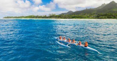 Et, pendant ce temps, aux îles Cook, on organise des « Jeux Olympiques » 5