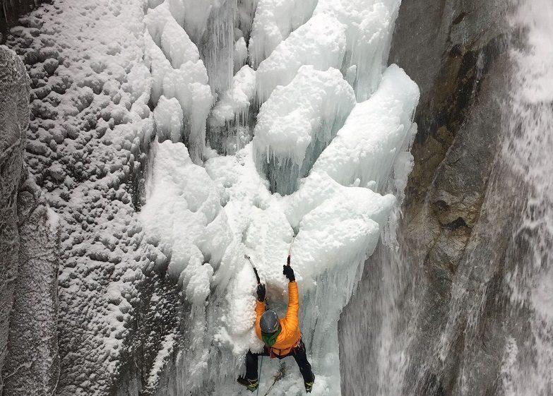 hors ski cascade de glace