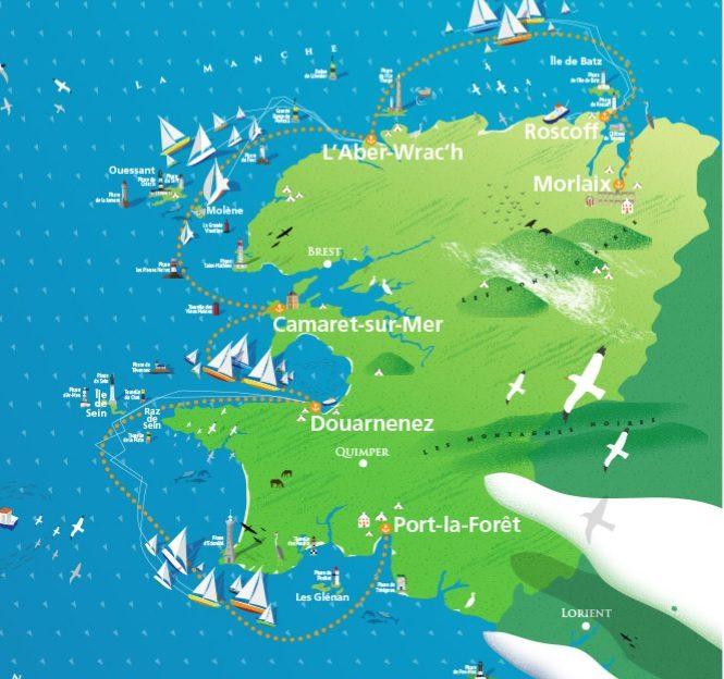 On part en mer avec le Tour du Finistère à la voile 1