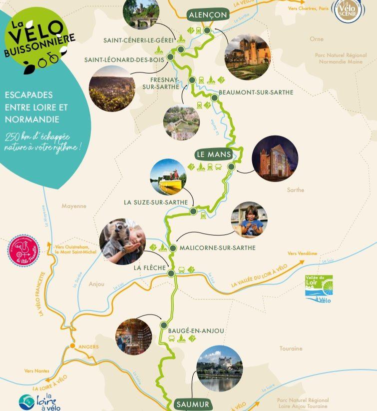 A découvrir, l'Orne, la Sarthe et le Maine-et-Loire, grâce à la Vélobuissonnière 2