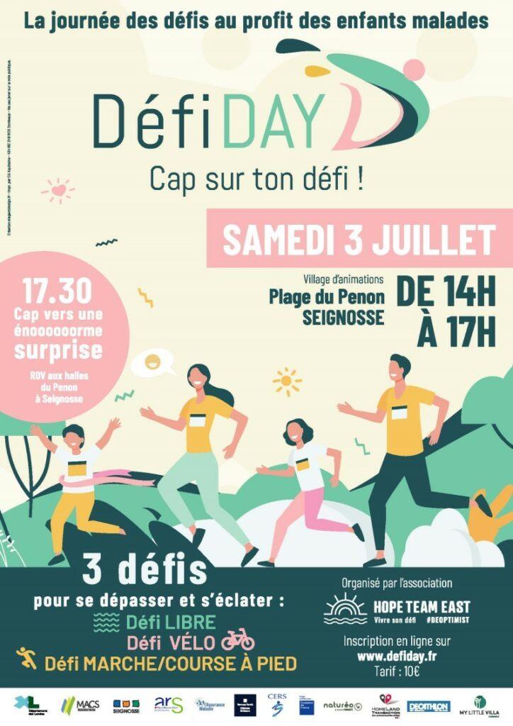 Le Défi Day, la journée des défis solidaires dans les Landes début juillet 2