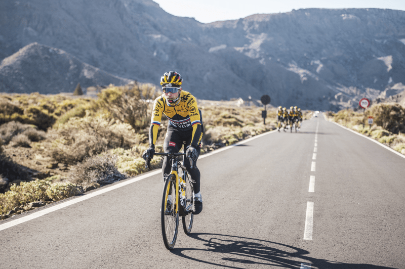 L'équipe cycliste Jumbo Visma fan de Tenerife 2