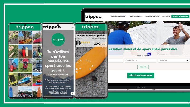 « Trippez », la plateforme qui facilite l'accès au matériel de sport entre particuliers 2