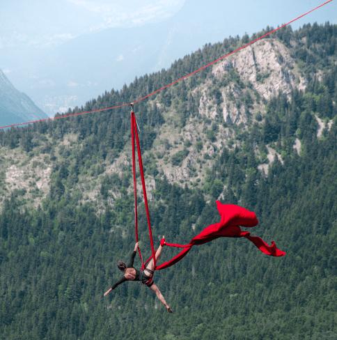 Equilibre et sensations fortes à Lans-en-Vercors lors du Marmotte Highline Project 2