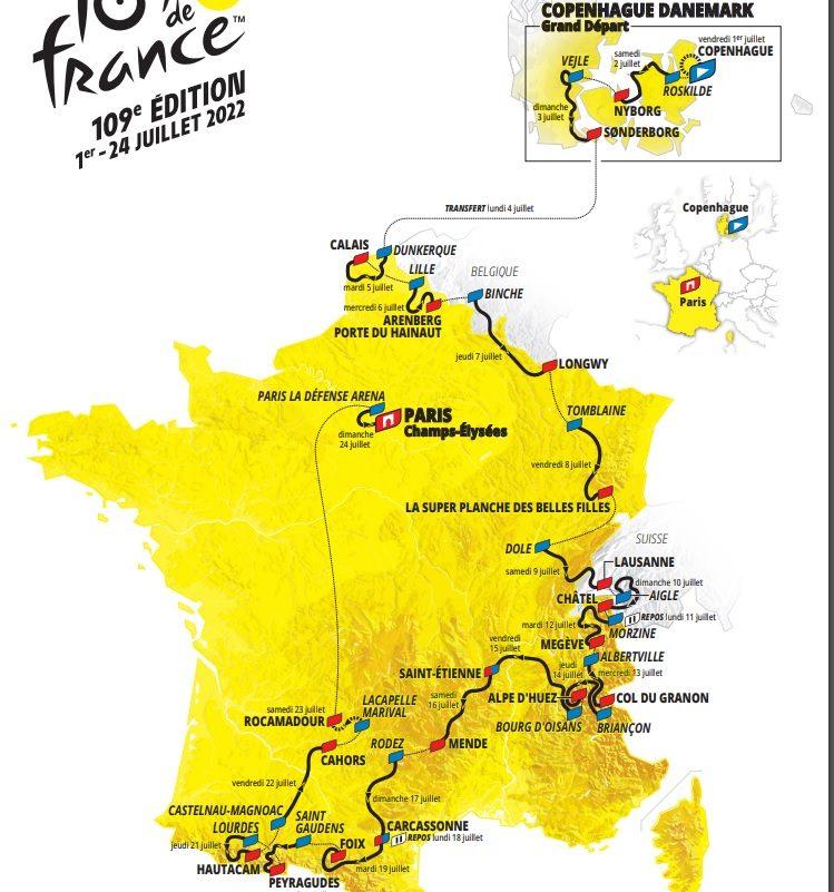 Le Tour de France 2022 en selle sur quatre pays 1